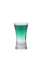69er - The 69er shot is made from creme de menthe (green) and creme de cacao (white), and served in a shot glass.