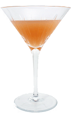 A.J. Cocktail - The A.J. Cocktail is made from Apple Brandy and grapefruit juice, and served in a cocktail glass.