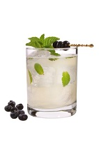 Acai Mojito - The Acai Mojito drink is made from VeeV acai spirit, lime, agave nectar, mint and club soda, and served in an old-fashioned glass.
