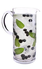 Acai Mojito Pitcher - The Acai Mojito Pitcher is made from VeeV acai spirit, lime juice, agave nectar, mint and club soda, and served in a pitcher. This recipe makes 6 servings.