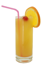 Amsterdam Drink - The Amsterdam Drink is made from Gin, Triple Sec and orange juice, and served in a highball glass.