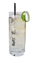 Apple Rum Rickey - The Apple Rum Rickey is made from Apple Brandy, Light Rum and club soda, and served in a chilled highball glass.