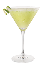 Appletini - The Appletini is made from Skyy Vodka, sour apple liqueur and lemon-lime soda, and served in a cocktail glass.