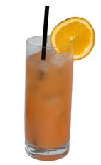 Bermuda Bouquet - The Bermuda Bouquet drink is made from Gin, Apricot Brandy, fresh lemon juice, fresh orange juice, bar sugar, grenadine and Cointreau, and served in a chilled highball glass.