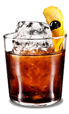 Lemon Black Russian - The Lemon Black Russian drink is a modern variation of the classic Black Russian drink, made from Kahlua coffee liqueur, vodka and lemon, and served in an old-fashioned glass.