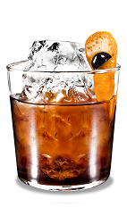 Orange Black Russian - The Orange Black Russian is a variation of the classic Black Russian drink, using orange vodka in place of traditional vodka. This drink is made from Kahlua coffee liqueur, orange vodka and orange, and served in an old-fashioned glass.