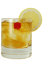 Brandy Cobbler - The Brandy Cobbler drink is made from Brandy, sugar and club soda, and served in a chilled old-fashioned glass.