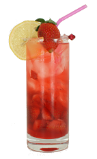 El Nino - The El Nino drink is made from Havana Club Silver Dry Rum, Cointreau, strawberry syrup, lemon juice and fresh strawberries, and served in a highball glass.