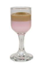 Godiva Christmas Shot - The Godiva Christmas Shot is made from Godiva chocolate liqueur and Tequila rose, layered in a chilled shot glass.