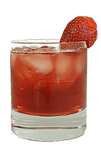 Inga from Sweden - The Inga from Sweden drink is made form Xante Cognac, Campari, strawberries, cranberry juice, sugar syrup and lime juice, and served in an old-fashioned glass.