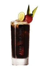 Jager & Coke - The Jager & Coke drink is made from Jagermeister and Coca-Cola, and served in a highball glass.