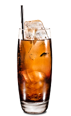 Ginger Kahlua - The Ginger Kahlua drink is made from Kahlua coffee liqueur and ginger ale, and served in a highball glass.