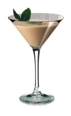 Mint Splash - The Mint Splash cocktail is made from Amarula, peppermint schnapps and heavy cream, and served in a chilled cocktail glass.