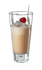 Rula - The Rula drink is made from Amarula cream liqueur, cherry liqueur and half-and-half, and served in a collins glass.
