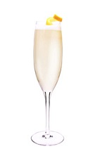 Sparkling Superfruit - The Sparkling Superfruit drink is made from VeeV acai spirit, lemon juice, simple syrup and champagne, and served in a chilled champagne flute.