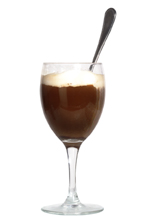 Alex Coffee - The Alex Coffee drink is made from scotch whiskey, brown sugar and hot coffee, and served in a wine glass or an Irish coffee glass.