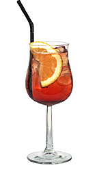 Americano - The Americano drink is made with sweet vermouth, campari and club soda, and served in a white wine or a highball glass.