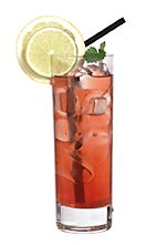 Back to Back - The Back to Back drink is made from white rum, cognac, Passoa, cranberry juice and lemon-lime soda, and served in a highball glass.