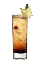 Picture of Brown Russian. The Brown Russian drink is made from vodka, Kahlua and ginger ale, and served in a highball glass.