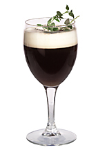 CeeDee - The CeeDee drink is made from gin, Kahlua, Mandarine Napoleon, hot coffee and whipped cream, and served in a white wine glass, or an Irish coffee glass.