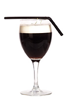 French Coffee - The French Coffee drink is made from cognac, brown sugar, hot coffee and whipped cream, and served in a wine or irish coffee glass.