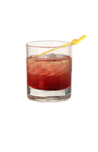 Lava - The Lava drink is made from dark rum, vodka, apricot brandy, lemon juice and grenadine, and served in an old-fashioned glass.