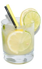 Lemon Lime Caipirinha - The Lemon Lime Caipirinha is a variation on the classic Caipirinha, substituting half its lime for lemon. The Lemon Lime Caipirinha is made from cachaca, lemon, lime and sugar, and served in an old-fashioned glass.