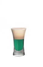Lilly Whites - The Lilly Whites shot is made from Dooleys toffee liqueur, creme de menthe, vanilla vodka and milk, and served in a shot glass.