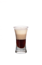 Mud Slide - The Mud Slide shot is made by layering equal amounts of vodka, Kahlua and Baileys in a shot glass. To layer the ingredients, slowly pour them over the back of a chilled spoon into the glass.