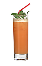 Rum Punch - The Rum Punch drink is made from rum, sugar syrup, Angostura Bitters and lime juice, and served in a highball glass.