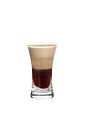 The 0155 Shot is made from Kahlua, Sambucca and Baileys, and served layered in a shot glass.
