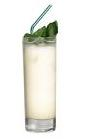 The 43 drink is made from Licor 43 and milk, and served in a highball glass.