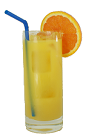 The Apricot Screwdriver drink is made from Vodka, Apricot Brandy, Triple Sec and orange juice, and served in a highball glass.