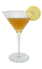 The Apricot Sour is made from Apricot Brandy, sugar and fresh lemon juice, and served in a chilled cocktail glass.