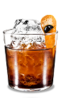 The Orange Black Russian is a variation of the classic Black Russian drink, using orange vodka in place of traditional vodka. This drink is made from Kahlua coffee liqueur, orange vodka and orange, and served in an old-fashioned glass.