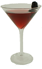 The Blackberry Martini is made from Absolut Kurant Vodka and Crème de Mure, and served in a chilled cocktail glass.