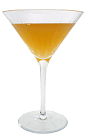 The Bourbon Sidecar cocktail is made from Bourbon, Triple Sec and fresh lemon juice, and served in a chilled cocktail glass.
