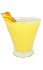 The Frozen Mango Daiquiri is made from crushed ice, fresh mango, lime juice, white rum and sugar, and served in any glass.