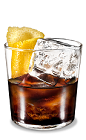 The Kahlua Lemon Rocks drink is made from Kahlua coffee liqueur and fresh lemon, and served in an old-fashioned glass.