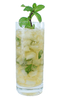 The Mint Julep is made from Bourbon, sugar syrup and fresh mint leaves, and served in a chilled highball glass.