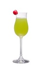 The Slipper is a variation of the classic Japanese Slipper, made from Midori melon liqueur, silver tequila, triple sec and orange juice, and served in a chilled cocktail glass.