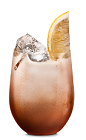 The Sour Kahlua drink is made from Kahlua coffee liqueur, lemon juice and simple syrup, and served in an old-fashioned glass.