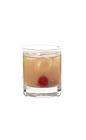 The Amaretto Sour drink is made from amaretto, sour mix and lemon juice, and served in an old-fashioned glass.