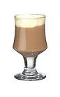 The Baileys Coffee drink is made from Baileys Irish Cream, hot coffee and whipped cream, and served in a wine glass or an Irish coffee glass.