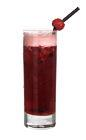 The Big Appleberry drink is made from cognac, red currant berries, green seedless grapes, blackberries, syrup and apple juice, and served in a highball glass.