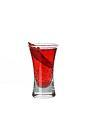 The Brother shot is made from Campari, Schweppes Russian and a chili pepper, and served in a shot glass.