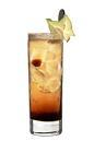The Brown Russian drink is made from vodka, Kahlua and ginger ale, and served in a highball glass.