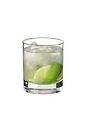 The Rock Island drink is made from vodka, lime wedges and sugar, and served in an old-fashioned glass.