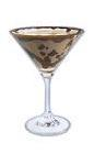 The Choko Toffee Martini cocktail is made from Dooleys, vodka and a chocolate bar, and served in a cocktail glass.