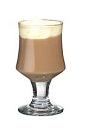 The Dooleys Coffee drink is made from Dooleys Toffee Liqueur, hot coffee and whipped cream, and served in a wine glass, or an Irish coffee glass.